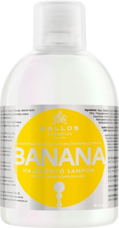 Szampon wzmacniający z ekstraktem z banana i kompleksem witamin - Kallos Cosmetics Banana Fortifying Shampoo With Multivitamin Complex