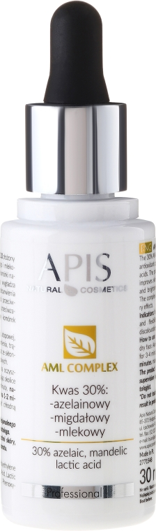 Kompleks kwasów 30%: azelainowy, migdałowy, mlekowy - APIS Professional AML Complex