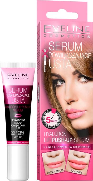 Serum powiększające usta - Eveline Cosmetics Hyaluron Lip Push-Up Serum
