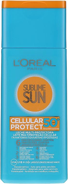 Mleczko przeciwsłoneczne - L'Oreal Paris Sublime Sun Cellular Protect SPF50 Sun Lotion — фото N1
