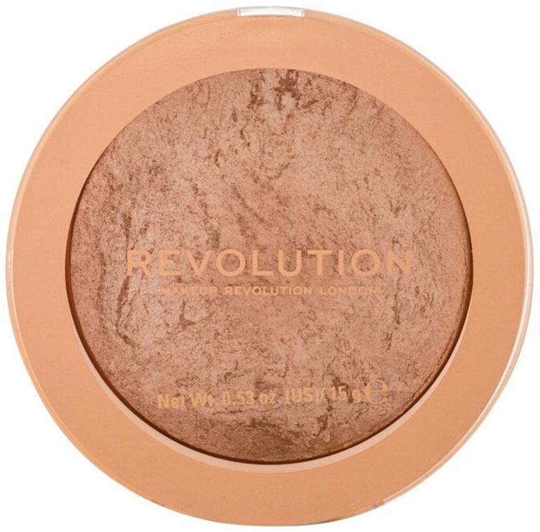 Rozświetlający wypiekany bronzer do twarzy - Makeup Revolution Reloaded Powder Bronzer