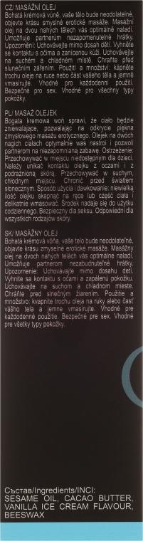 Olejek do masażu Lody waniliowe - Sezmar Collection Love Massage Oil Vanilla Ice Cream — фото N3