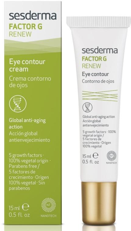 Przeciwstarzeniowy krem pod oczy - SesDerma Laboratories Factor G Renew Eye Contour — фото N1