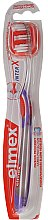 Szczoteczka do zębów przeciw próchnicy, średnia twardość, fioletowa, 43613 - Elmex Toothbrush Caries Protection InterX Medium — фото N1