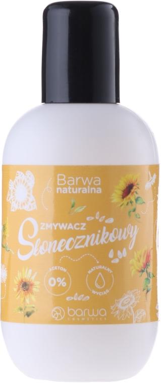 Bezacetonowy zmywacz do paznokci z ekstraktem z nasion słonecznika - Barwa Natural Nail Polish Remover