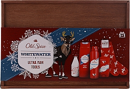 Kup Zestaw - Old Spice Whitewater Wooden (deo/50g + sh/gel/250ml + ash/lot/100ml + deo/spray/150ml)