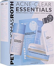 Kup Zestaw - Peter Thomas Roth Acne-Clear Essentials Kit (patch/12pcs+gel/20ml+patch/20pcs+f/wash/57ml+cr/7.5ml)