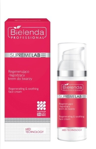 Regenerująco-łagodzący krem do twarzy - Bielenda Professional SupremeLab Med Technology  — фото N1