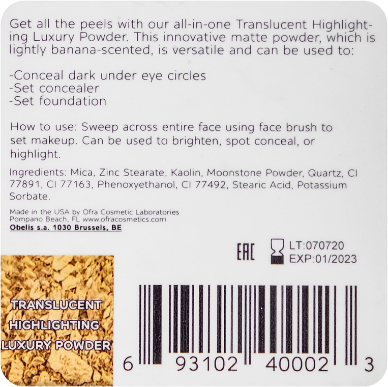 Puder do twarzy - Ofra Translucent Highlighting Luxury Powder — фото N3