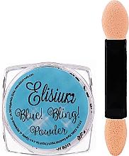 Kup Puder do paznokci - Elisium Blue Bling Powder