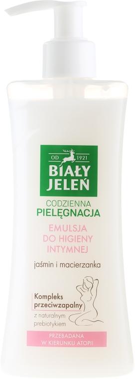 Hipoalergiczna emulsja do higieny intymnej Jaśmin i macierzanka - Biały Jeleń — фото N1