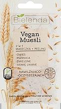 Kup Nawilżająco-oczyszczająca maska z peelingiem do twarzy 2w1 - Bielenda Vegan Muesli