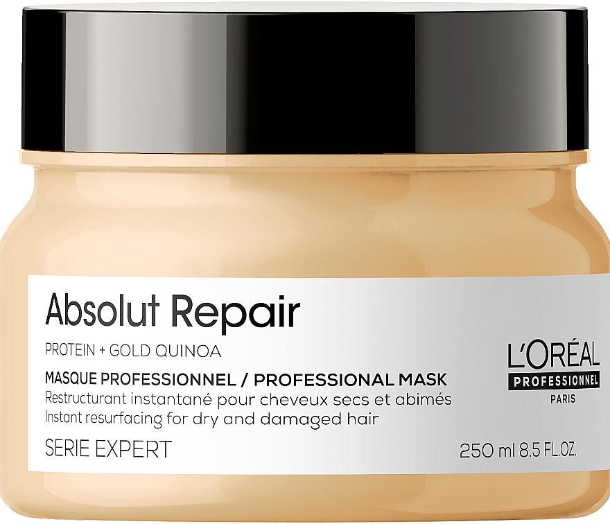 Naprawcza maska do włosów - L'Oreal Professionnel Absolut Repair Gold Quinoa +Protein Mask New
