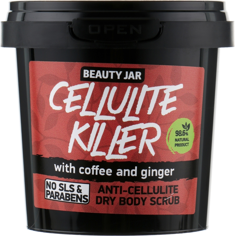 Antycellulitowy suchy peeling do ciała z kawą i imbirem - Beauty Jar Cellulite Killer Anti-Cellulite Dry Body Scrub