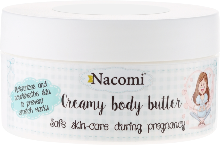 Lekkie masło do ciała dla kobiet w ciąży - Nacomi Pregnant Care