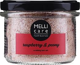 Kup Peelingująca sól do kąpieli Malina i peonia - Melli Care Raspberry & Peony Scrubbing Bath Salt