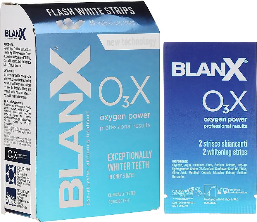 Paski do wybielania zębów w domu - BlanX O3X Oxygen Power Flash White Strips — фото N1