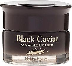 Przeciwstarzeniowy krem pod oczy z ekstraktem z czarnego kawioru - Holika Holika Black Caviar Anti Wrinkle Eye Cream — фото N2