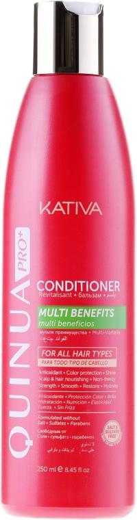 Odżywka do włosów farbowanych - Kativa Quinua PRO Conditioner