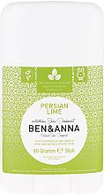 Kup Dezodorant na bazie sody w sztyfcie Perska limonka - Ben & Anna Natural Soda Deodorant Persian Lime