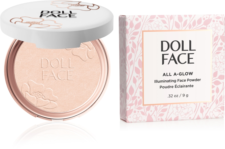 Rozświetlający puder do twarzy - Doll Face All A Glow Illuminating Powder