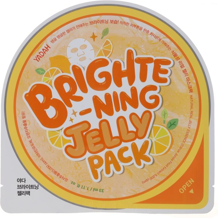 Rewitalizująca żelowa maska w płachcie do twarzy - Yadah Brightening Jelly Pack Face Mask — фото N1