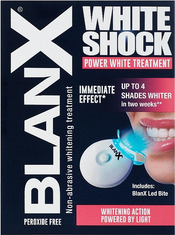 Zaawansowany system do wybielania zębów lampą LED - BlanX White Shock Power White Treatment + Led Bite