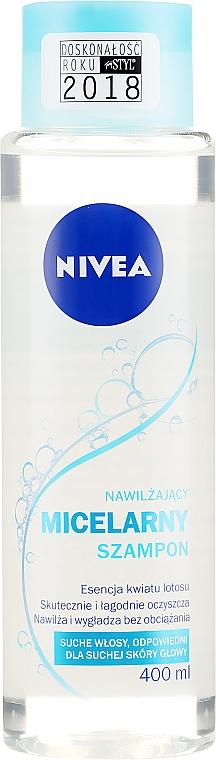 Nawilżający szampon micelarny do włosów suchych i suchej skóry głowy - Nivea Micellar Moisturizing Shampoo