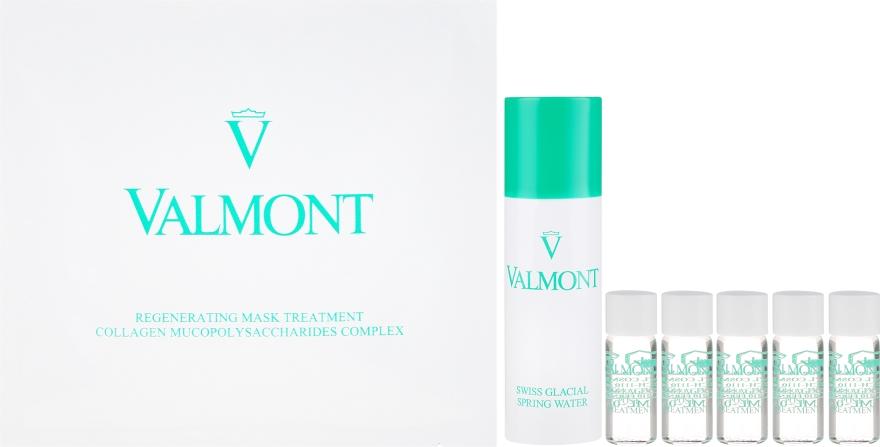 Kolagenowa maska algowa do twarzy - Valmont Intensive Care Regenerating Mask Treatment (mask/5x35g + serum/5x1.8ml + water/60ml) — фото N2