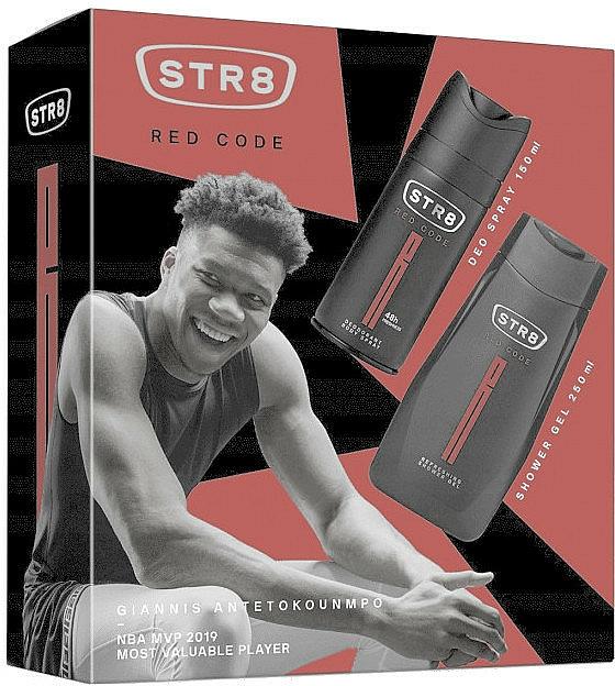 STR8 Red Code - Zestaw (żel pod prysznic/250ml + dezodorant/150ml) — фото N1