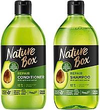 Kup Zestaw do włosów - Nature Box Avocado Oil Set (shmp 385 ml + cond 385 ml)