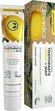 Kup Wybielająca pasta do zębów Cytryna i mięta - Nordics Organic & Whitening Toothpaste Lemon + Mint