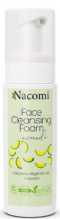 Pianka do mycia twarzy - Nacomi Face Cleansing Foam Avocado — фото N1