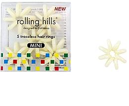 Kup Gumki do włosów, beżowe, 5 szt. - Rolling Hills Traceless Hair Rings Mini Beige