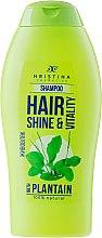 Naturalny szampon wzmacniający do włosów Babka - Hristina Cosmetics Hair Shine & Vitality With Plantain Shampoo — фото N1