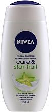 Kup Kremowy żel pod prysznic Mleczko aloesowe i owoc karamboli - Nivea Care & Star Fruit Shower Cream