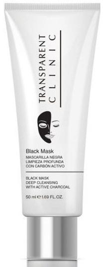 Głęboko oczyszczająca czarna maska do twarzy z węglem aktywnym - Transparent Clinic Deep Cleansing Black Mask With Active Charcoal — фото N1