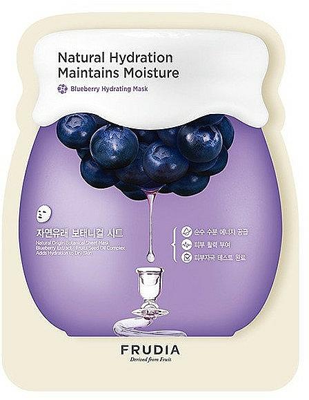 Nawilżająca maska do twarzy na tkaninie z ekstraktem z jagód - Frudia Natural Hydration Maintains Moisture Blueberry Mask — фото N1