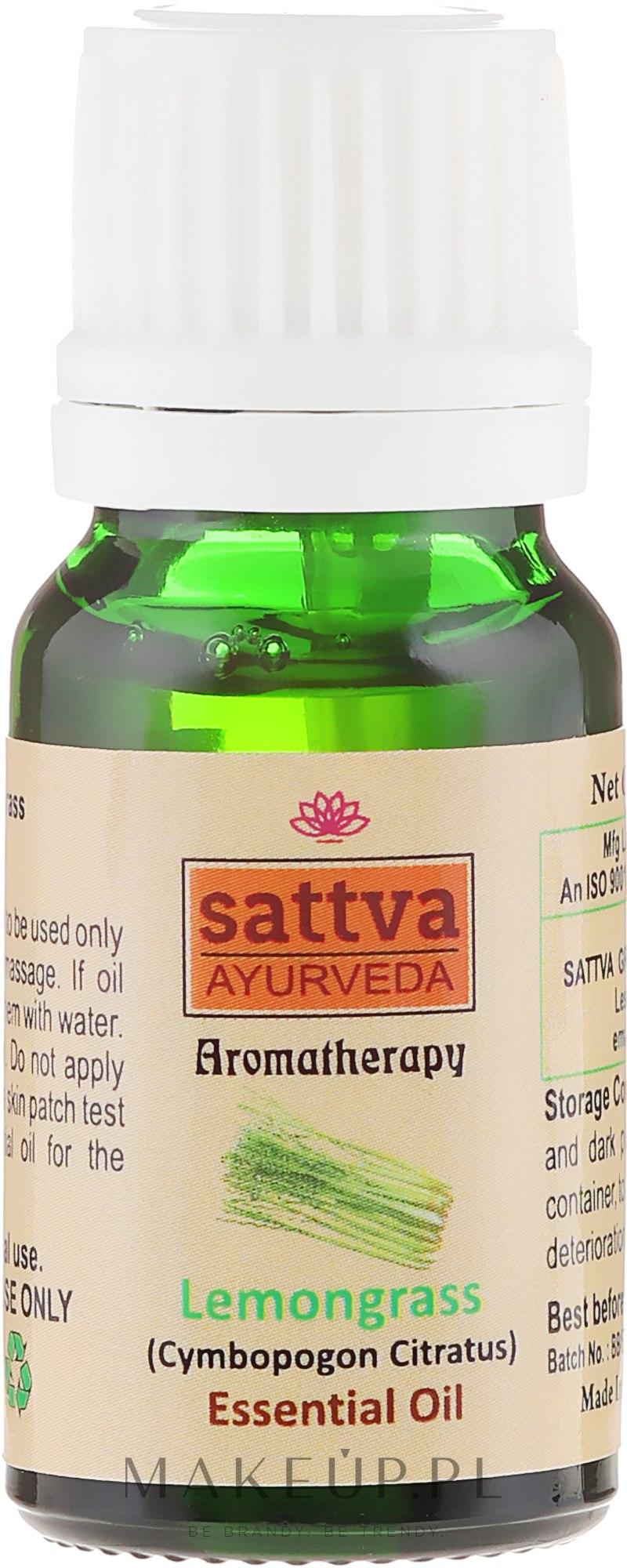 Olejek z trawy cytrynowej - Sattva Ayurveda Aromatherapy Lemongrass Essential Oil — фото 10 ml