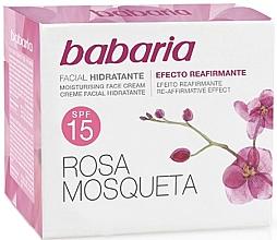 Kup Nawilżający krem do twarzy z dzikiej róży SPF 15 - Babaria Face Cream With Rose Hip SPF15