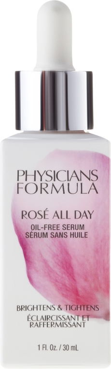 Bezolejowe różane serum do twarzy - Physicians Formula Rosé All Day Oil-Free Serum