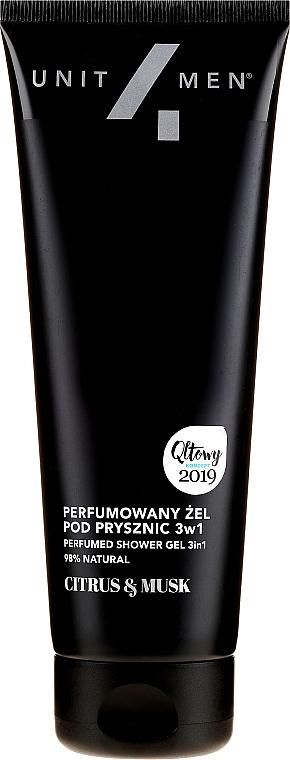 Perfumowany żel pod prysznic 3 w 1 dla mężczyzn - Unit4Men Citrus&Musk 3in1 Shower Gel — фото N1