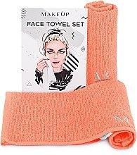 Kup Podróżny zestaw brzoskwiniowych ręczników do twarzy MakeTravel - Makeup