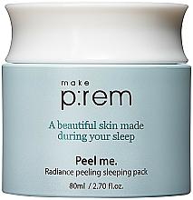 Kup Peelingująca maska do twarzy na noc z kwasami PHA - Make P:rem Radiance Peeling Sleeping Pack