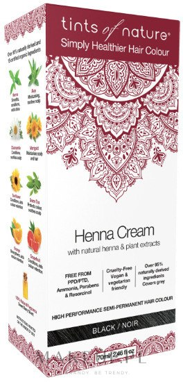 Henna w kremie do koloryzacji włosów - Tints Of Nature Henna Cream — фото Black