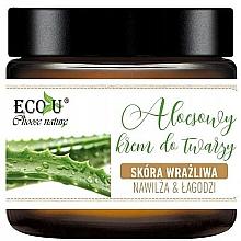Kup Aloesowy krem do twarzy do skóry wrażliwej - Eco U Aloe Face Cream