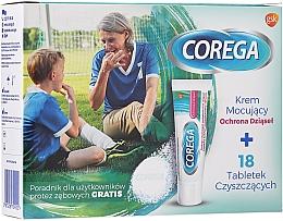 Kup Zestaw do protez zębowych - Corega (fixative/cream 40 g + tabs 18 pcs)