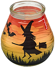 Kup Świeca dekoracyjna w słoiczku, 94/91 mm - Bolsius Candle Patiolight Bat and Witch