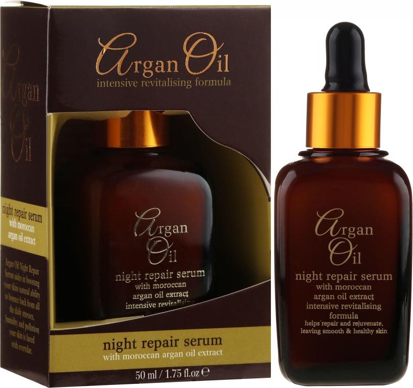 Odbudowujące serum do twarzy na noc - Xpel Marketing Ltd Argan Oil Night Repair Serum