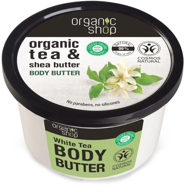 Masło do ciała Biała herbata - Organic Shop Organic Tea & Shea Butter Body Butter — фото N1